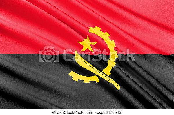Flag of Angola - Africa - csp33478543