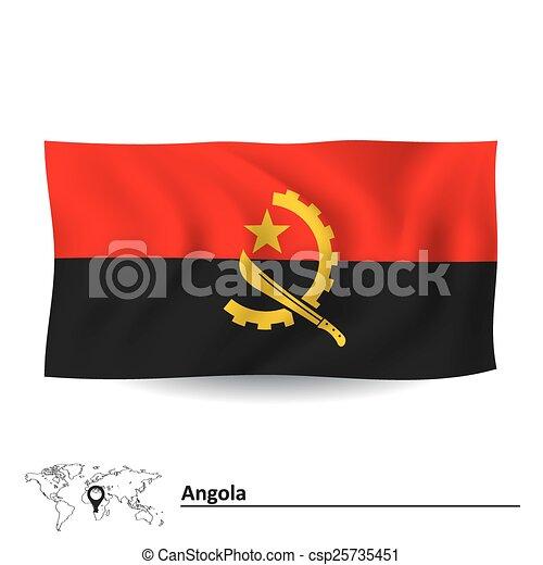 Flag of Angola - csp25735451