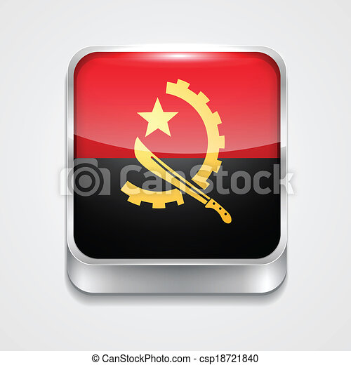 flag of angola - csp18721840