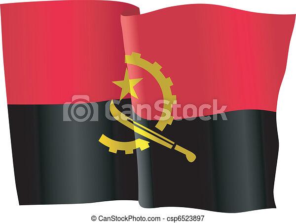 flag of Angola - csp6523897