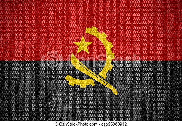 flag of Angola - csp35088912
