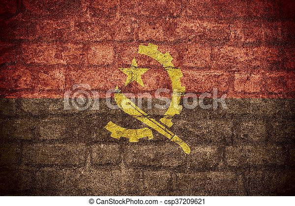 flag of Angola - csp37209621
