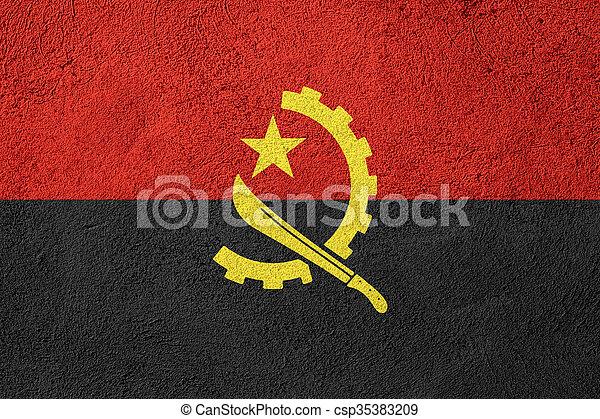 flag of Angola - csp35383209
