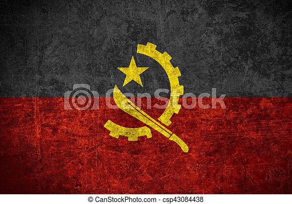 flag of Angola - csp43084438