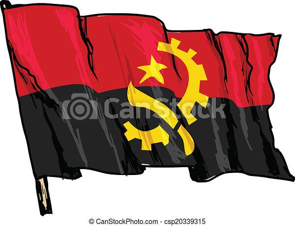 flag of Angola - csp20339315