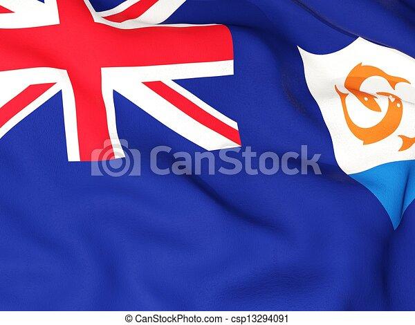 Flag of anguilla - csp13294091
