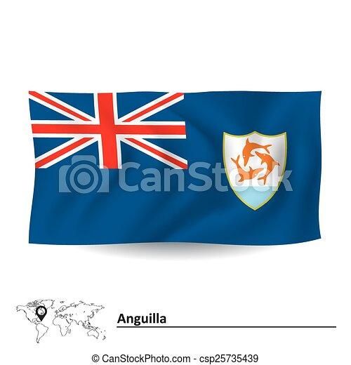 Flag of Anguilla - csp25735439