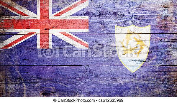 Flag of Anguilla - csp12635969