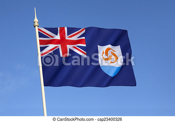 Flag of Anguilla - csp23400326