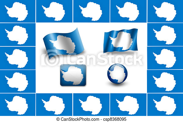 flag of Antarctica. icon set - csp8368095