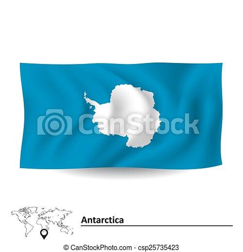 Flag of Antarctica - csp25735423
