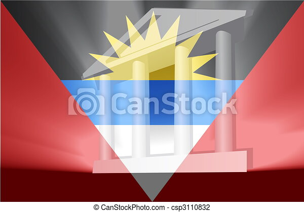 Flag of Antigua government - csp3110832