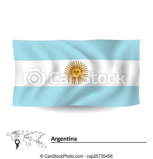 Flag of Argentina - csp25735456