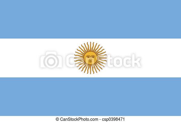 Flag of Argentina - csp0398471
