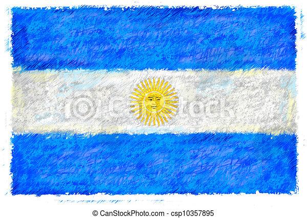 Flag of Argentina - csp10357895
