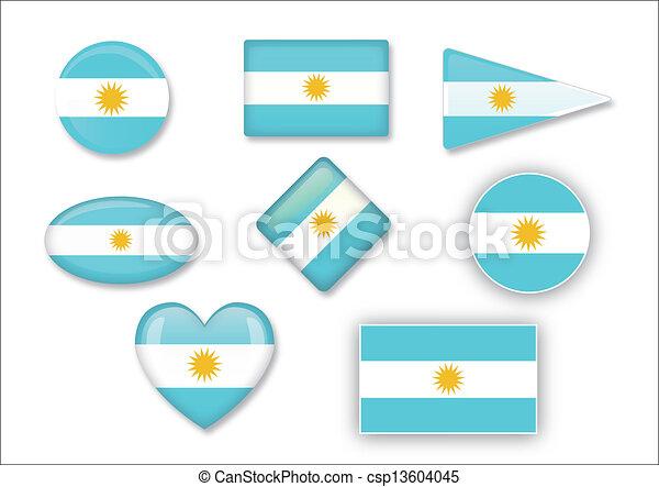 flag of Argentina - csp13604045