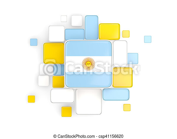 Flag of argentina, mosaic background - csp41156620