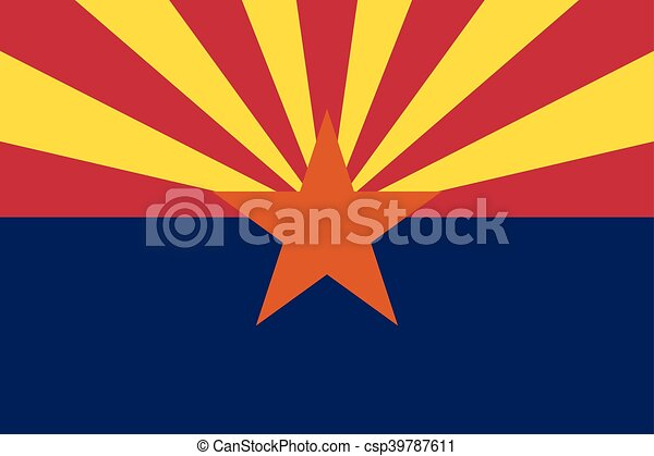 Flag of Arizona in correct proportions and colors - csp39787611