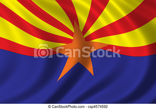 Flag of Arizona - csp4574592
