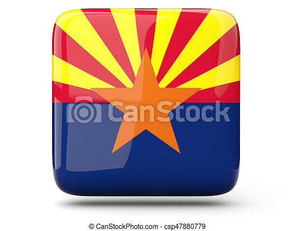 Flag of arizona, US state square icon - csp47880779