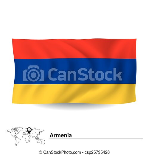 Flag of Armenia - csp25735428