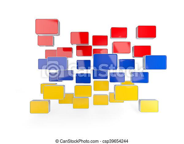 Flag of armenia, mosaic background - csp39654244