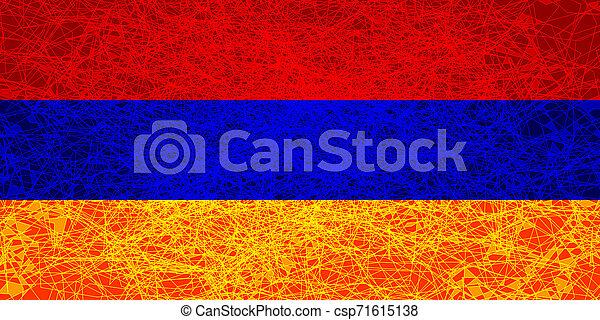 Flag of Armenia. - csp71615138