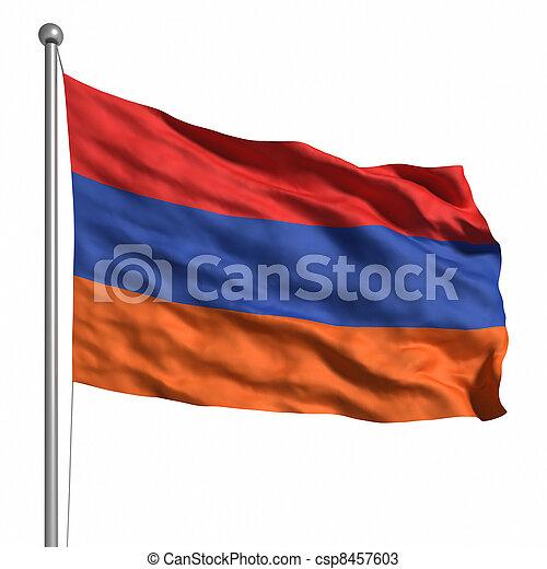 Flag of Armenia - csp8457603
