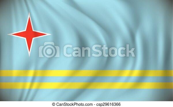 Flag of Aruba - csp29616366
