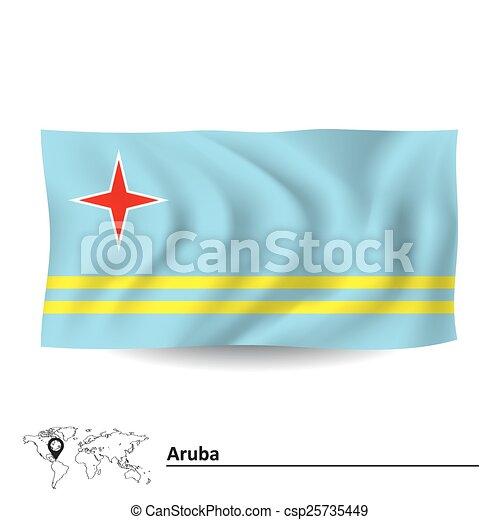 Flag of Aruba - csp25735449