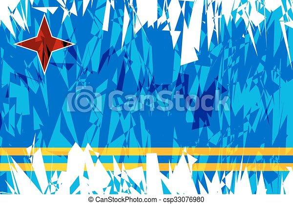 Flag of Aruba. - csp33076980