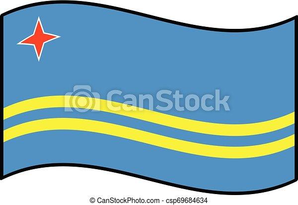 Flag of Aruba - csp69684634