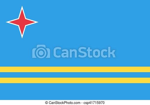 Flag of Aruba - csp41715970