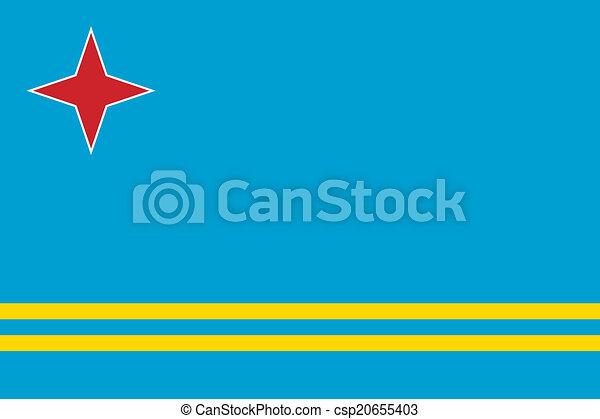Flag of Aruba - csp20655403