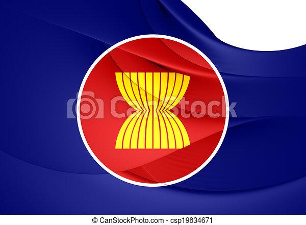 Flag of ASEAN - csp19834671