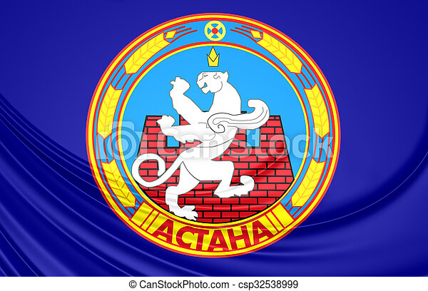 Flag of Astana, Kazakhstan. - csp32538999