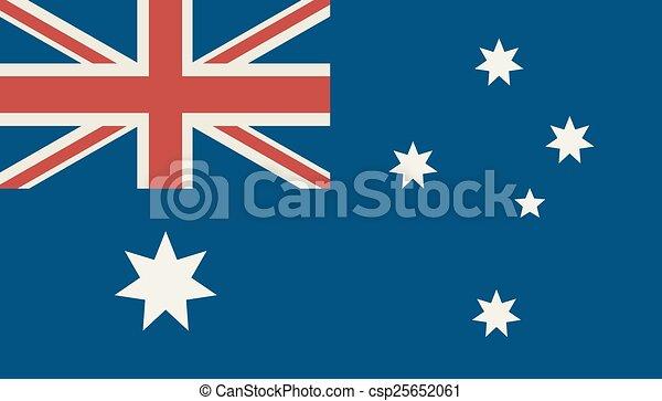 Flag Of Australia - csp25652061