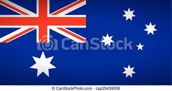 Flag of Australia. - csp25439558