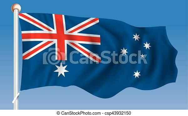 Flag of Australia - csp43932150