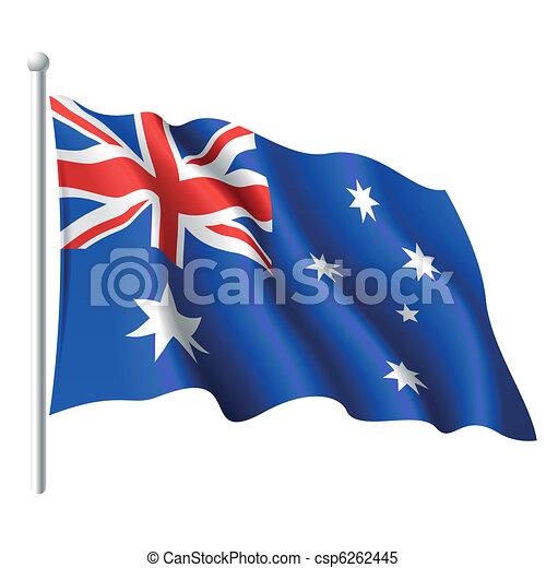 Flag of Australia - csp6262445