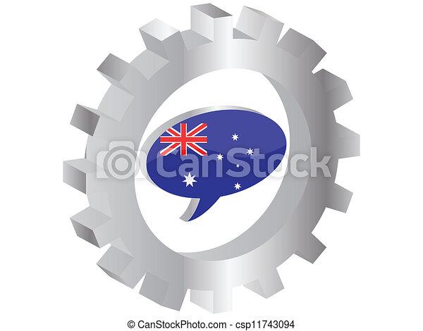 flag of australia - csp11743094