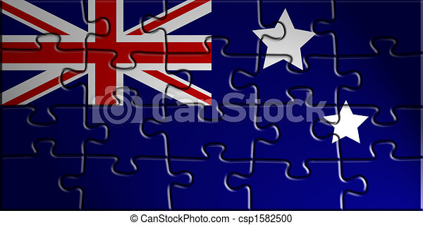 Flag of Australia - csp1582500