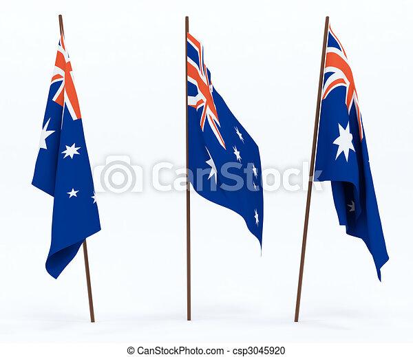 Flag of Australia - csp3045920