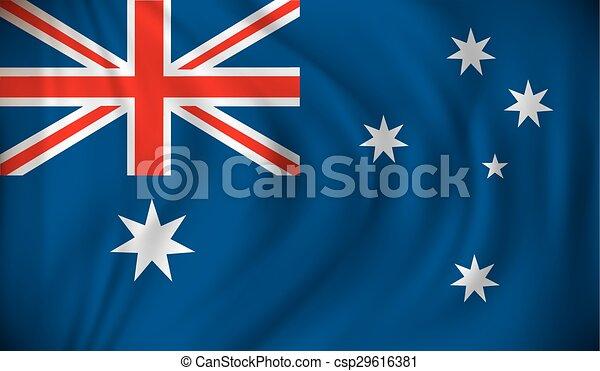 Flag of Australia - csp29616381