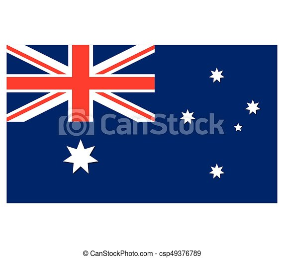 Flag of australia - csp49376789