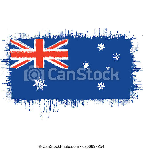 flag of Australia  - csp6697254