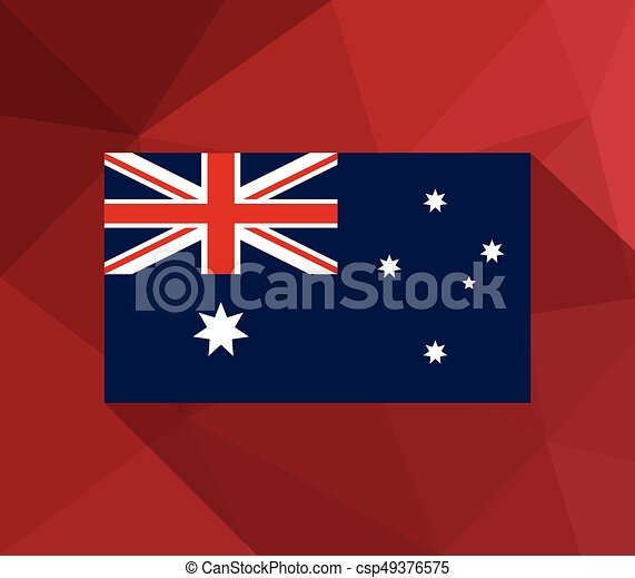 Flag of australia - csp49376575