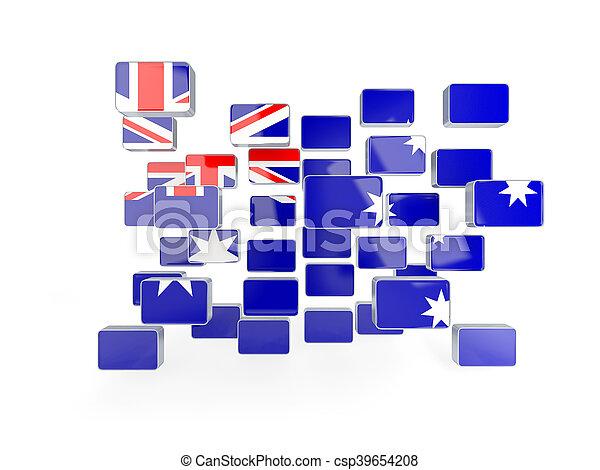 Flag of australia, mosaic background - csp39654208