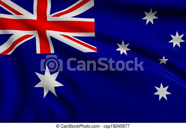 Flag of Australia - csp19245877