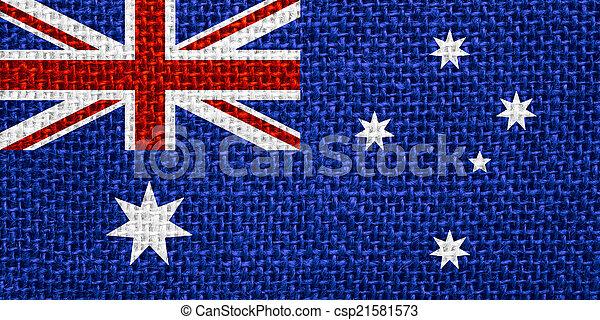 flag of Australia - csp21581573